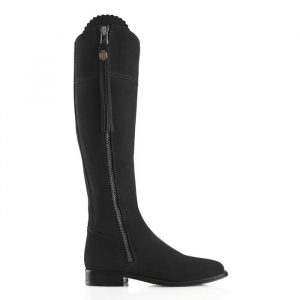 Fairfax And Favor Regina Suede Boot Black