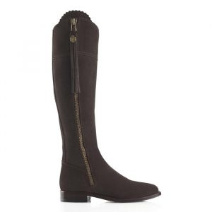 Fairfax And Favor Regina Suede Boot Chocolate