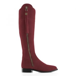 Fairfax And Favor Regina Suede Boot Oxblood
