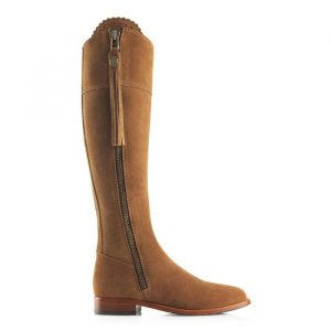 Fairfax And Favor Regina Suede Boot Tan