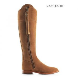 Fairfax And Favor Regina Suede Sporting Fit Tan