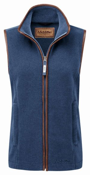Schoffel Lyndon Ii Fleece Gilet Denim Blue
