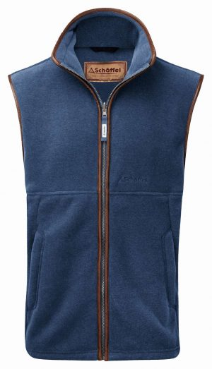 Schoffel Oakham Fleece Gilet Denim Blue